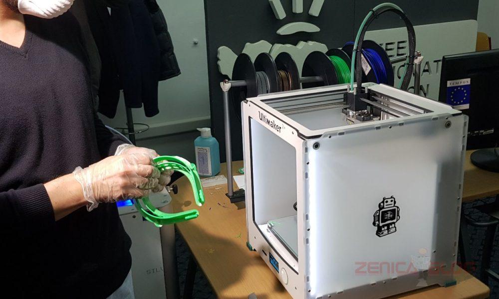 VIDEO+FOTO NA LICU MJESTA: Na UNZE Počelo 3D Printanje Zaštitnih Vizira Koji Mogu Pomoći Zdravstvenim Radnicima