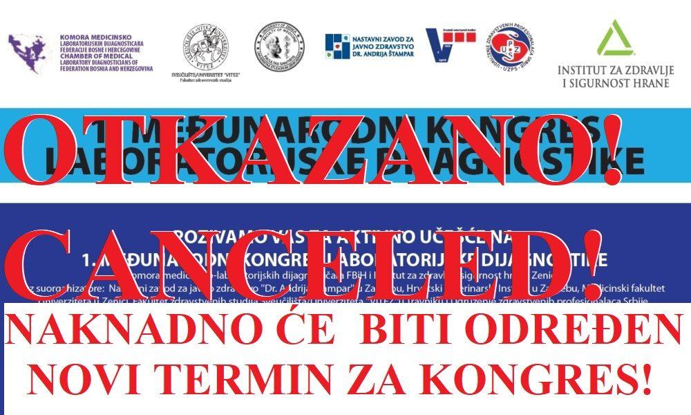 PRIJAVITE SE: Prvi Međunarodni Kongres Laboratorijske Dijagnostike, 25.-27. 09. U Zenici